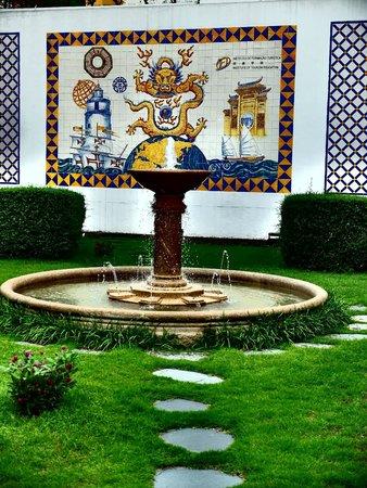 Pousada de Mong-Ha : Fountain outside main entrance