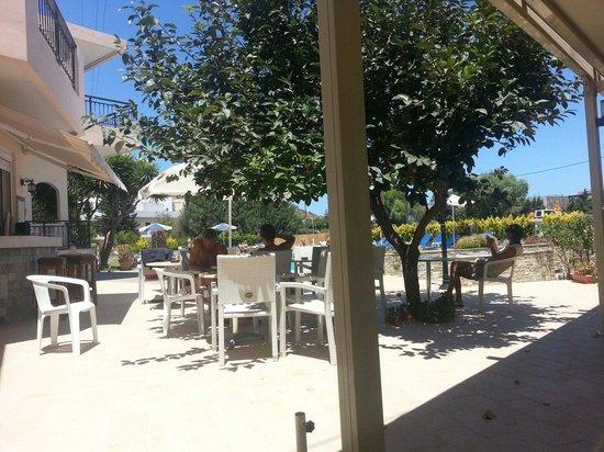 Villa Ritsa : Sitting in the shade