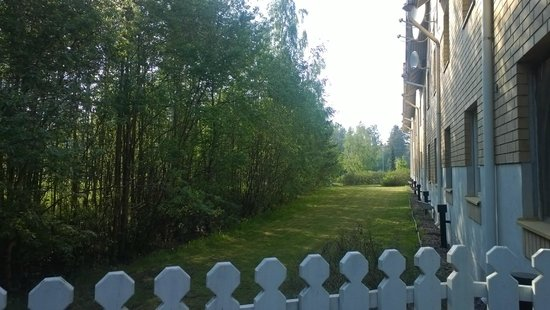 Hotel Cumulus Kotka: Вид из летнего кафе