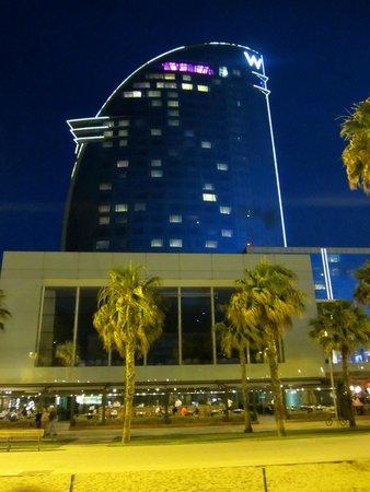 W Barcelona : Hotel at night