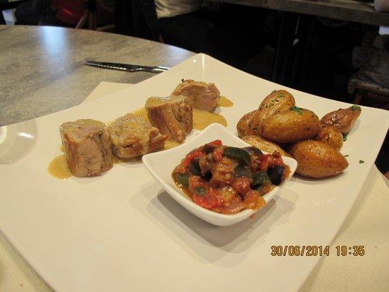 Le Petit bouchon : Les morceaux de filet de porc