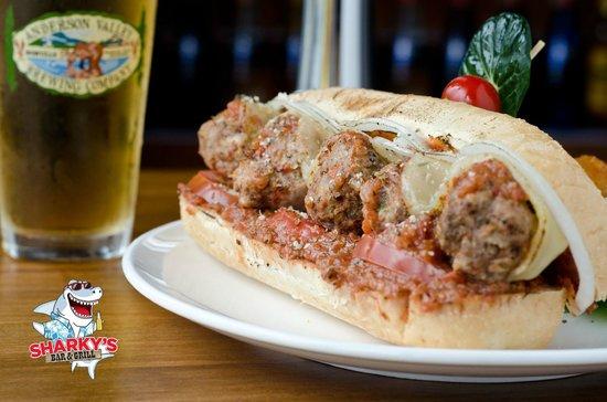 Sharky's Bar and Grill 1: meatball hoagie