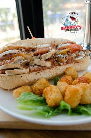 Sharky's Bar and Grill 1: Mushroom Parm Hoagie