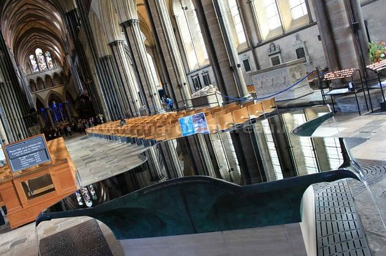 Salisbury Cathedral: The interiours of the impressive cathedral