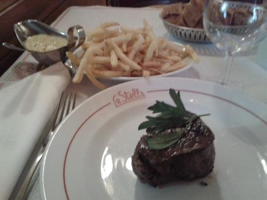 Le Stella : filet boeuf + frittes