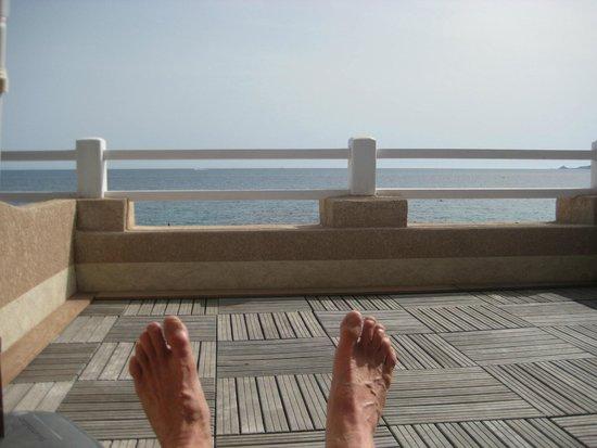 Hotel Stella di Mare : les pieds dans l'eau