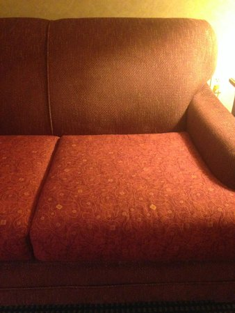 Embassy Suites by Hilton Omaha - Downtown/Old Market : Mismatched Cushions