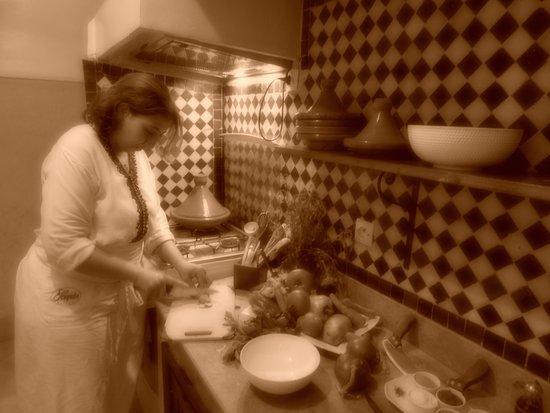 La Table Al Badia at Riad Al Badia: The Chef making the traditionnal Moroccan Cuisine
