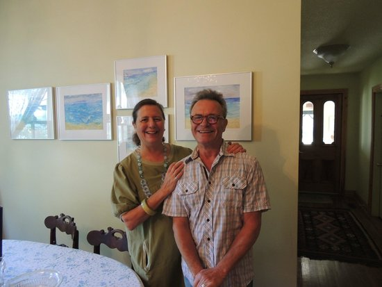 A B&B on Bay, Acrylic Dreams: Karen and Jack, our charming hosts