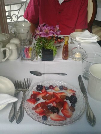 Glynn House Inn: Fruit Plate to begin Breakfast