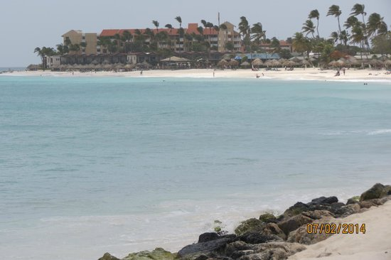 Divi Aruba All Inclusive: Another property in the distance showing the beautiful water