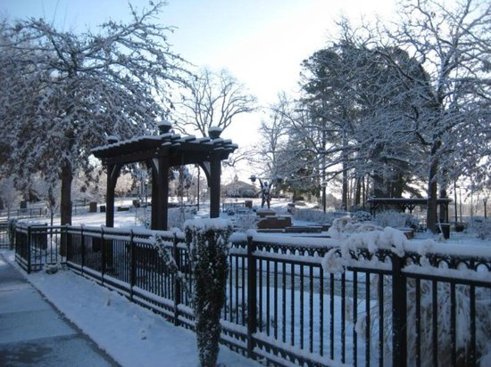 Toccoa, GA: Paul Anderson Memorial Park in the snow