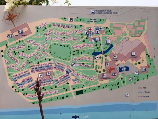 Le plan du club Picture of Club Med Agadir Agadir TripAdvisor