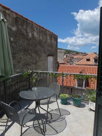 Hotel Slavija: Balcony