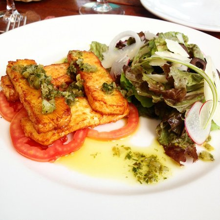 The River Cafe : Grilled haloumi - really good!