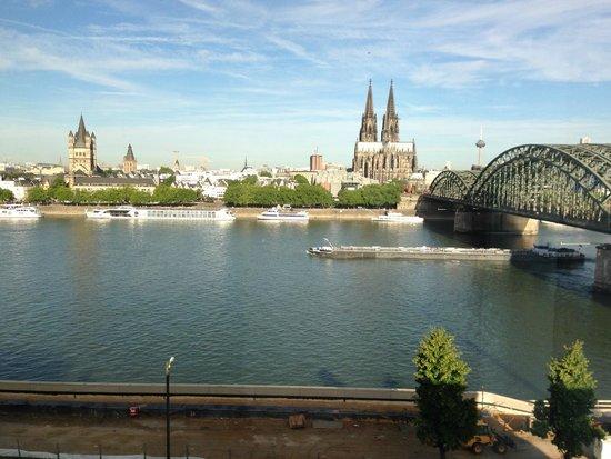 Hyatt Regency Cologne : dit was ons morgen uitzicht