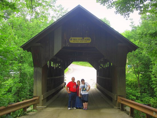 Vermontology Guided Day Tours: Vermontology customers at the Emily's Bridge- Vermont Tours