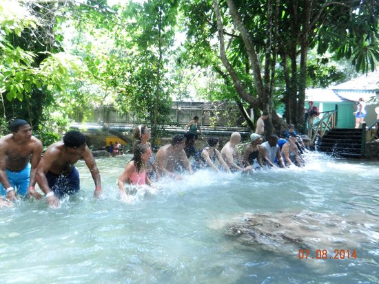 Dunn's River Falls and Park: Having fun during the climb