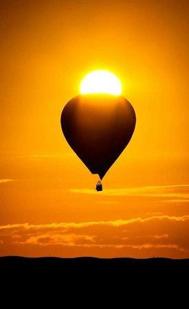 Amafu Forest Lodge: Hot-air ballooning...