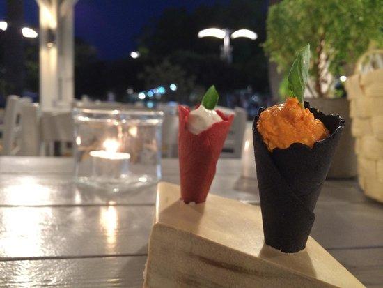 Argonauta Restaurant: Avec le pain, de savoureux mais trop petits (quand on est gourmand)