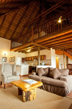 Amafu Forest Lodge : Interior of our family unit- Cerinus Cottage...