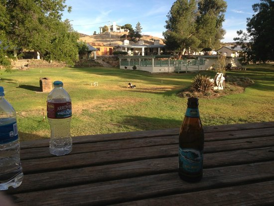 Meling Ranch: Having a beer at the ranch!