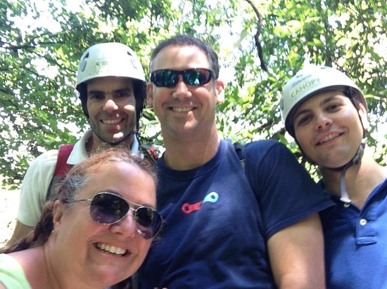 Sintra Canopy: With our trusty guides!