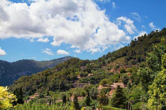 Valldemossa Hotel : view from terrace - breakfast