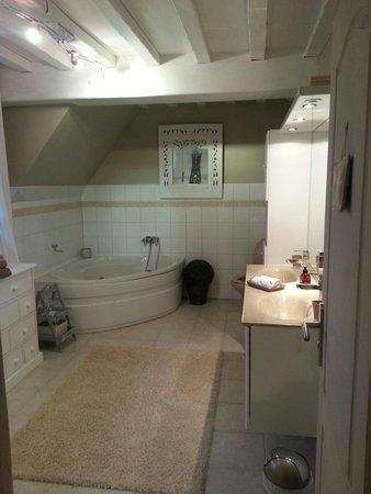 Salle de bain chambre orchid e photo de manoir de la for Chambre plus salle de bain