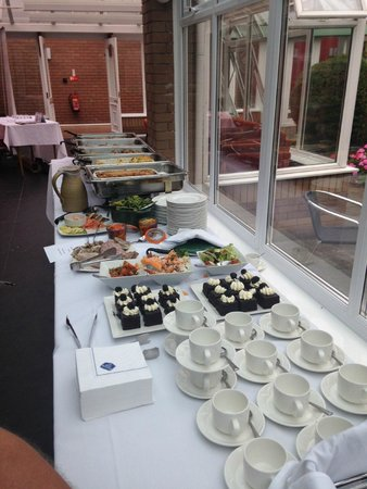 Best Western Stafford M6/J14 Tillington Hall Hotel: Lunch buffet for networking meeting