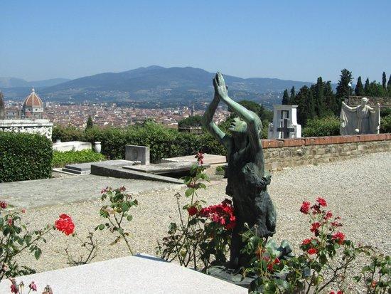 Piazzale Michelangelo: Вид на Флоренцию с площади перед церковью