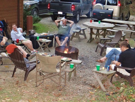 Harvest Moon Cottages: Family time around the campfire