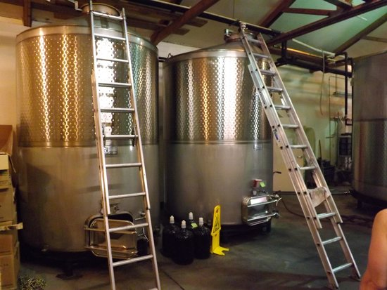 Portteus Vineyards: Fermentation tanks