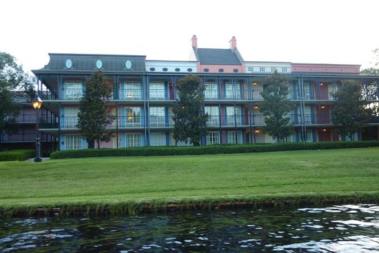 Disney's Port Orleans Resort - French Quarter : View of the resort from the river taxi.