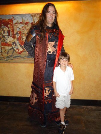 Medieval Times Dinner & Tournament: sir david and mykal lee