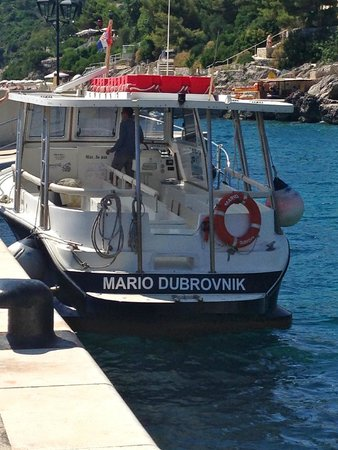 Sun Gardens Dubrovnik: boat drop off at hotel
