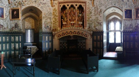 The drawing room at Castell Coch