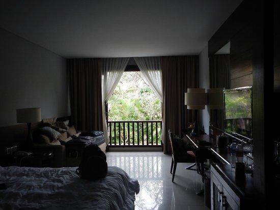 Puri Santrian: Belle vue de la fenêtre de la chambre