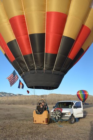 Rocky Mountain Hot Air: Just about to take off!