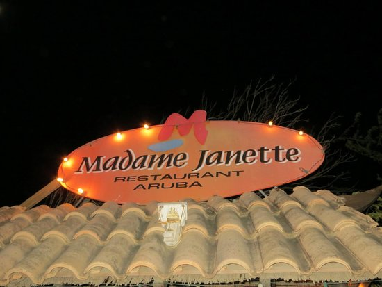 Madame Janette: Sign out front