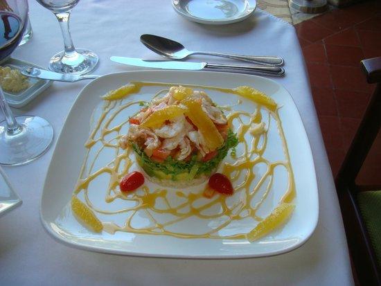 La Briciola: insalata con camarones e arance