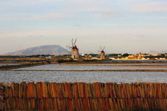 Isola di Mozia (Mothia)/ San Pantaleo : Placide saline al tramonto