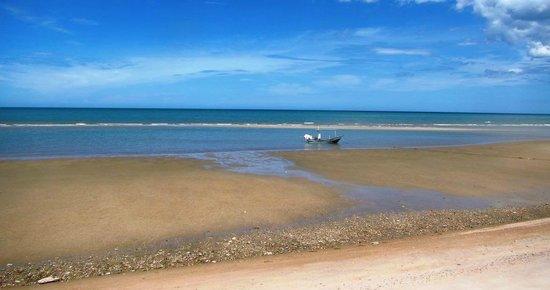 Devasom Hua Hin Resort: Very very low tide
