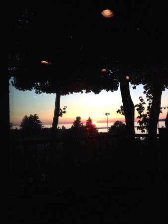 Sunset over Little Traverse Bay from Twisted Olive