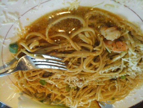 Silas Dent's Steakhouse: greasy Shrimp Scampi