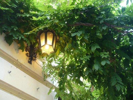 Villa Apostoli: Lamp at the summer garden
