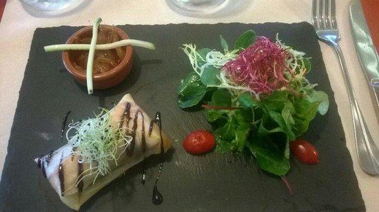Le Carrelet : Croustillant au somon et foie gras frais