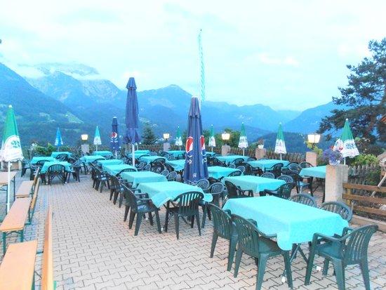 Berggasthof Oberkälberstein: Gasthof Terrasse