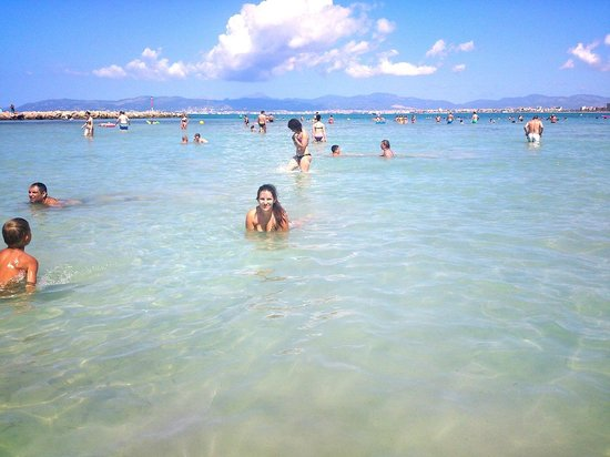 Palma-Bay Club Resort: Playa del arenal (junto al puerto)