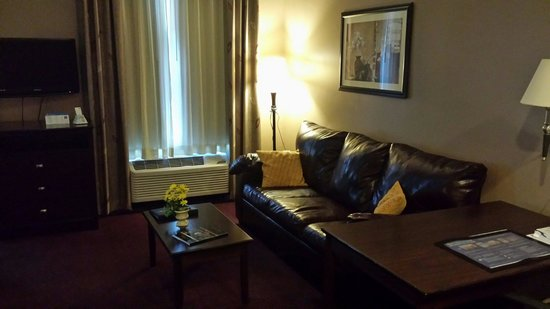 BEST WESTERN PLUS Hannaford Inn & Suites: Full size couch